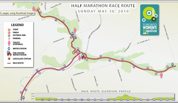 map thumb   Toronto Women's Half Marathon
