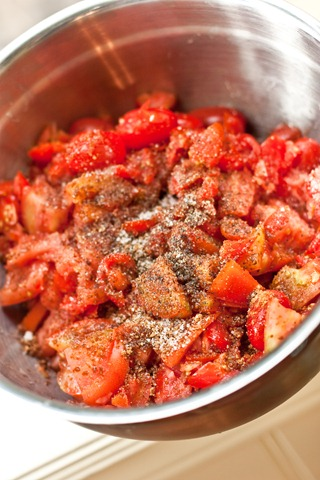 Basil Scalloped Tomatoes and Croutons — Oh She Glows