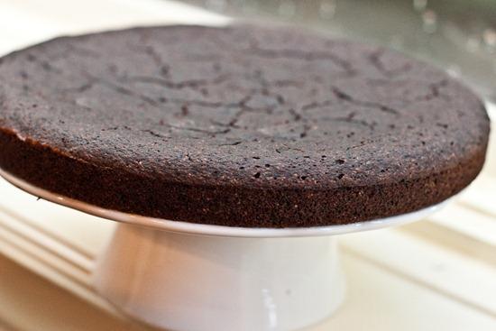 IMG 4314 thumb   Healthy Blueberry Chocolate Glaze Cake
