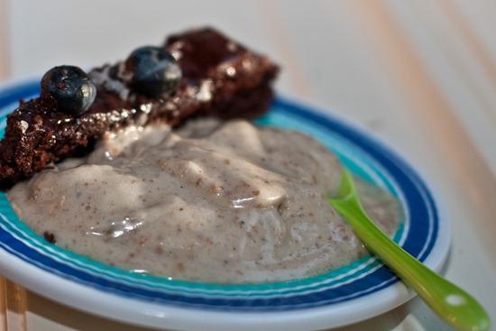 IMG 4393 thumb   Healthy Blueberry Chocolate Glaze Cake