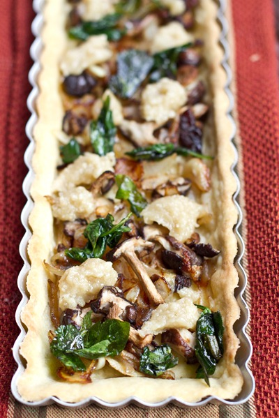 20100927IMG 3528 thumb   Mushroom, Onion, & Spinach Tart with 'Goat Cheeze'