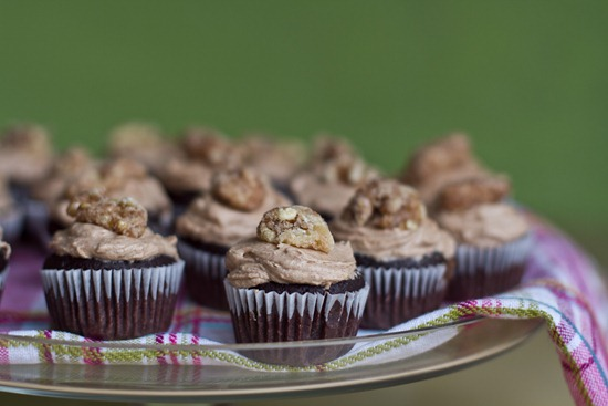 20101105IMG 9632 thumb   Mini Cinnamon Chocolate Cupcakes w/ Spiced Buttercream and Candied Maple Walnuts