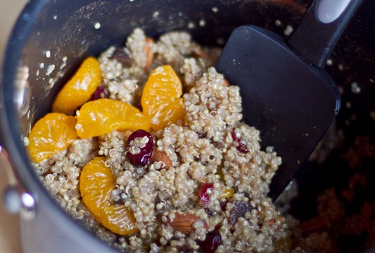 20101111IMG 0324 thumb   Mandarin & Maple Spiced Quinoa with Cranberries, Apricots, and Almonds