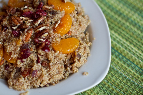 20101111IMG 0332 thumb   Mandarin & Maple Spiced Quinoa with Cranberries, Apricots, and Almonds